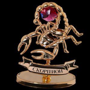 Сувенир знак зодиака «Скорпион», 7?2,3?9 см, с кристаллом Сваровски 798569