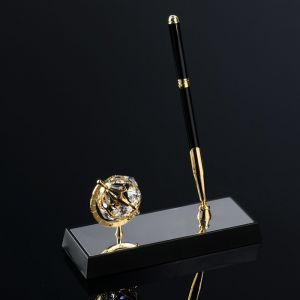 Ручка на подставке «Глобус», 16?6?20 см, с кристаллами Сваровски 1037348