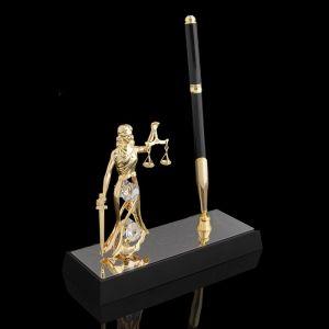 Ручка на подставке «Фемида», 16?6?20 см, с кристаллами Сваровски 1037344