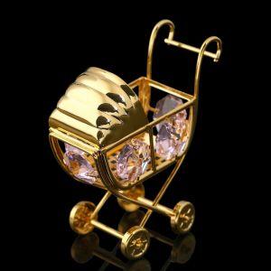 Сувенир «Детская коляска», 6х3х6 см, с кристаллами Сваровски 278484