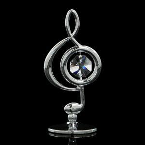 Сувенир «Скрипичный ключ», 3?3,6?7,8 см, с кристаллами Сваровски 3929959