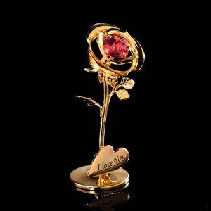 Сувенир «Розочка», 3?3,5?8 см, с кристаллами Сваровски 4015488