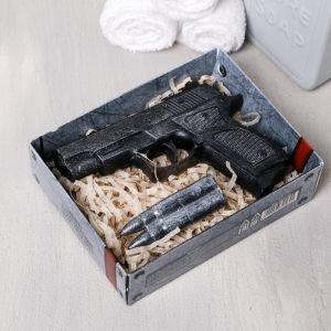 """Набор """"23 Февраля"""" мыло пистолет, мыло пуля   4632564"""