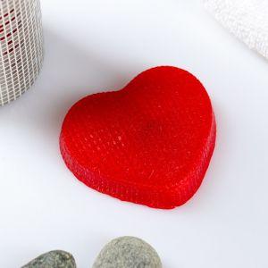 """Фигурное мыло """"Сердечко вязаное"""" красное 70гр   3732996"""