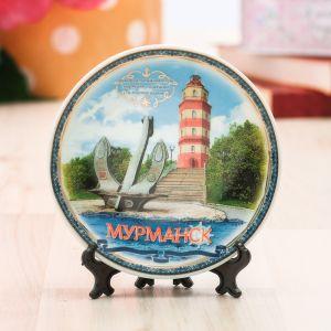 Тарелка сувенирная «Мурманск», d=10 см