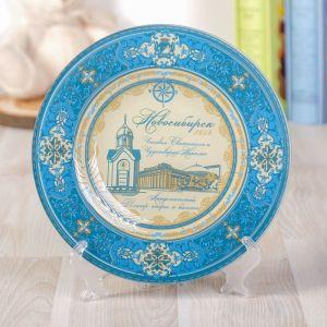 Тарелка орнаментальная «Новосибирск», d=20 см
