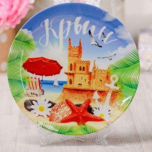 Тарелка декоративная «Крым. Ласточкино гнездо», d=20 см