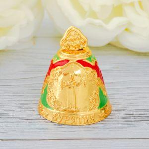 Колокольчик «Бурятия», под золото, цветная эмаль
