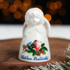 Колокольчик в форме ангела «Счастливого Рождества!»