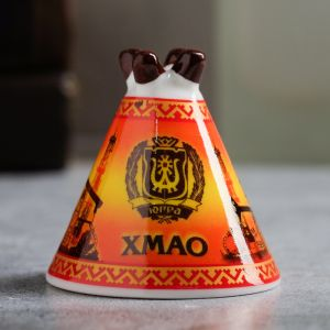 Колокольчик в форме чума «ХМАО. Нефтяная вышка»