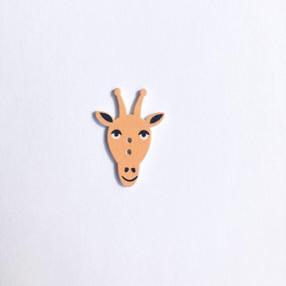 Пуговица Декор из дерева Животные  (ДЕР-20Animals)