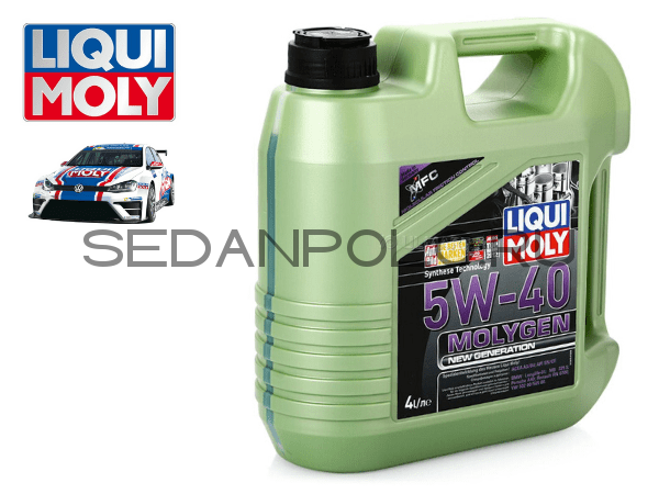 МАСЛО МОТОРНОЕ LIQUI MOLY MOLYGEN NEW GENERATION 5W-40 4L
