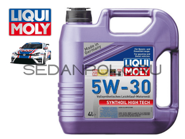 МАСЛО МОТОРНОЕ LIQUI MOLY SYNTHOIL HIGH TECH 5W-30 4L СИНТЕТИКА ACEA C3