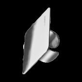 Стальная палитра кольцо на палец для смешивания косметики MANLY PRO