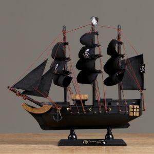 """Корабль """"Веселый Роджер"""", черные паруса, 24?6?22 см 4610184"""