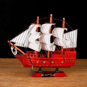 Корабль сувенирный малый «Вингилот», борта красное дерево, паруса белые, 4?20?20 см 565336