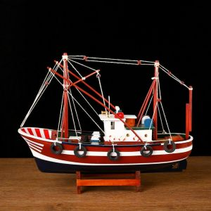 Корабль «Двина» , 32х10х25см, рыбаское судно, зеленый корпус   4415142