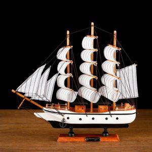 Корабль сувенирный средний «Мортан», борта белые, 33х31х5 см 1531142
