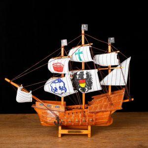Корабль сувенирный средний «Трёхмачтовый», 33х8х29 см 432044