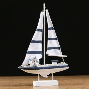 Яхта «Виват», 21х7х32 см, белая   4415144