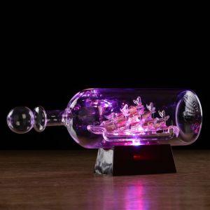 Корабль сувенирный в бутылке с золотистыми парусами «Корабль мечты», 10 ? 29 ? 13,5 см