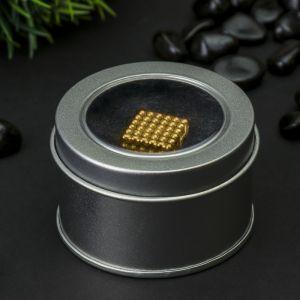 "Антистресс магнит ""Неокуб"" 216 шариков d=0,3 см (золото) 1929177"