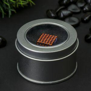 Антистресс-магнит «Неокуб», 1.8 ? 1.8 см, 216 шариков (d = 0,3 см), цвет оранжевый