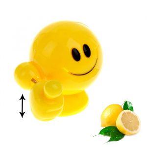 Ароматизатор на панель авто «Мега-смайл», лимон, 9.5 ? 9.5 см 811129