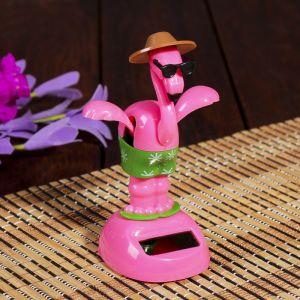 """Маятник пластик от солнечной батареи """"Фламинго на отдыхе"""" 12х7,5х6 см   4102013"""