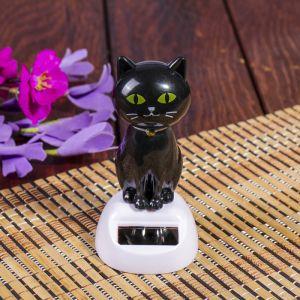 """Маятник пластик от солнечной батареи """"Чёрный котик"""" 10,5х5х6 см   4102015"""