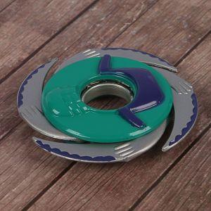 """Сюрикен """"Дай пять"""", фиолетовый+зеленый, 4 лезвия, 11*11 см"""