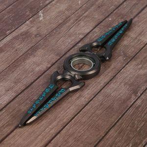 """Сюрикен """"Стрела"""", голубо-серый, 2 прямых лезвия, 4*16 см"""