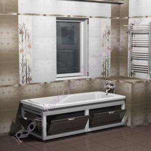 """Экран для ванны """"Лестер откидной, эмаль"""""""