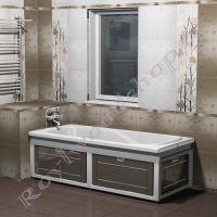"""Экран для ванны """"Лестер откидной, эмаль"""" 150/170 см двухцветный"""