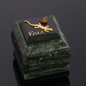 """Ларец """"Змейка"""", малый, с бархатом, змеевик 4265628"""