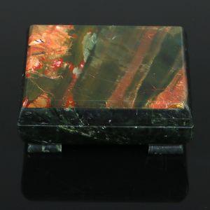 Ларец 10,5х9х5 см, змеевик, яшма   3956992