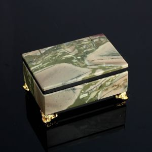 Ларец на ножках 9х6х5 см, натуральный камень, яшма 4095923