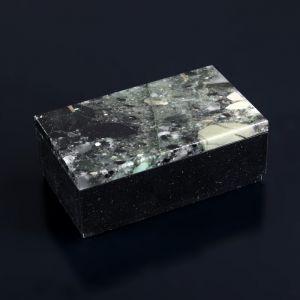 """Шкатулка """"Агат"""", 9,5х5,5х3,5 см, долерит, агат 4204347"""