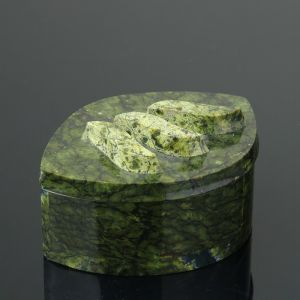 "Шкатулка ""Листик"", 12х8х6 см, змеевик 4204330"