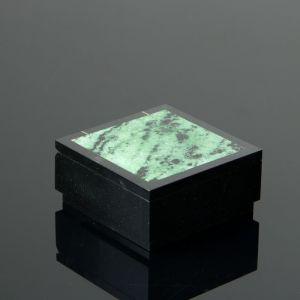 Шкатулка, 7,5х7,5х3,5 см, циозит, долерит 4204344