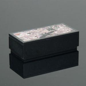 Шкатулка,13,5х7х3,5 см, чароит, долерит 482834