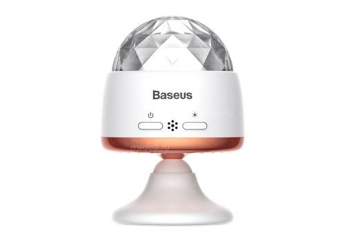 Беспроводной световой музыкальный шар Baseus Car Crystal Magic Ball Light ACMQD-02 White