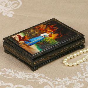 Шкатулка «Аленький цветочек», 10?14 см, лаковая миниатюра 2407446