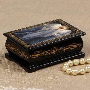 Шкатулка «Ангел с голубями», 6?9 см, лаковая миниатюра 2314248