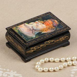 Шкатулка «Ангел с кроликом», 6?9 см, лаковая миниатюра 2663985