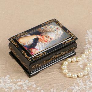 Шкатулка «Барыня», 6?9 см, лаковая миниатюра 2566799