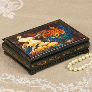 Шкатулка «Жар-Птица», 10?14 см, лаковая миниатюра 2407444