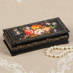Шкатулка «Жостово», 14?6 см, лаковая миниатюра 2570573