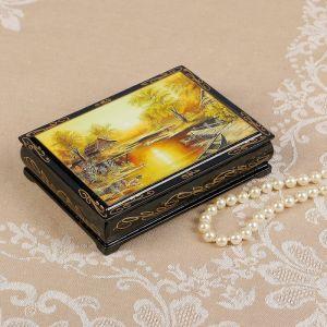 Шкатулка «Закат», 10?14 см, лаковая миниатюра 2407440