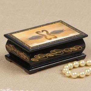 Шкатулка «Любовь», 6?9 см, лаковая миниатюра 2314261
